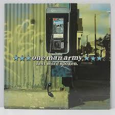 ONE MAN ARMY - LAST WORD SPOKEN LP 2000 ORIG ADELINE Green Day RANCID  ALKALINE   eBay
