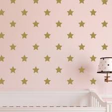 Star Polka Dot Vinyl Wall Decal Nursery Toddler Room Geometric Pattern Gold Confetti Twinkle Starburst Poka Dot Decal Gr3005