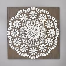Capiz Mandala Wall Art 47 25 X47 25 Wall Prints Pottery Barn Teen