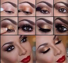 gold smokey eye makeup you saubhaya