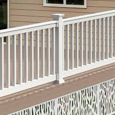 Freedom Lincoln 10 Ft X 3 In X 3 Ft White Pvc Deck Deck Rail Kit With Balusters 17 Piece And Assembly Required In The Deck Railing Department At Lowes Com