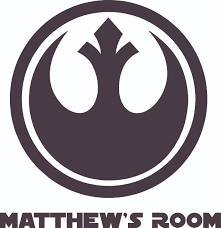 Star Wars Rebel Alliance Symbol Character Design Customized Wall Art Vinyl Decal Custom Vinyl Wall Art Personalized Name Baby Girls Bedroom Decal Room Wall Sticker Decoration Size 10x8 Inch