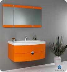 energia orange modern bathroom vanity w
