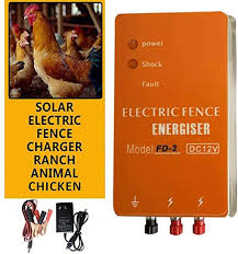 1 86 Mile Electric Fence Energizer Charger Fd 3 High Voltage Pulse Controller Animal Poultry Farm Electric Fencing Amazon Ca Home Kitchen
