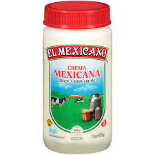 El Mexicano Crema Mexicana Sour Cream Jar, 15 Oz. - Walmart.com