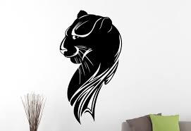 Black Panther Wall Art Sticker Wild Animal Vinyl Room Decal Animal Themed Decals Stickers Vinyl Art Home Decor Thecorner Mx