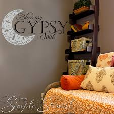 Bless My Gypsy Soul Vinyl Wall And Window Wall Decals And Graphics Wm The Simple Stencil