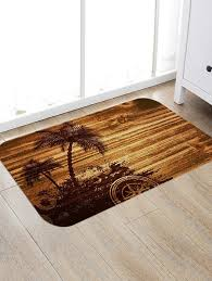 palm tree compass print floor area rug