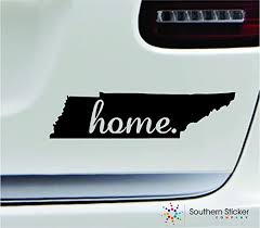 Amazon Com Expressdecor 2 Home Tennessee Symbol Decal Family Love Car Truck Sticker Window Black Automotive