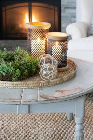 winter mantel decor coffee table
