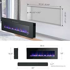 recessed electric fireplace in wall