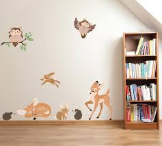 Woodland Animal Wall Decals Forest Family Fabric Wall Decals Eco Wall Decals