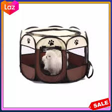Original Portable Folding Pet Tent Dog House Cage Dog Cat Tent Playpen Puppy Kennel Easy Operation Octagon Fence Lazada Ph