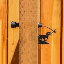 Ez Latch Black Plastic Gate Latch Pull Egl1 The Home Depot