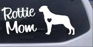Rottie Mom Rottweiler Dog Car Or Truck Window Laptop Decal Sticker 8x3 3 Ebay