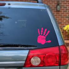 Handprint Vinyl Decal Handprint Sticker Handprint Car Window Etsy