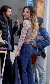 "Margarita Levieva pictured filming a scene at ""The Deuce"" movie ..."
