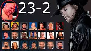 Undertaker's Wrestlemania Streak's 23-2 ...