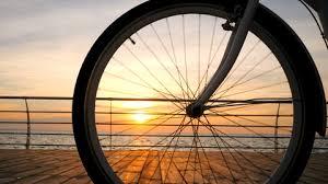 royalty free bicycle wheel spinning