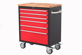customized wooden tool box trolley