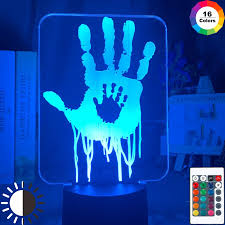 Video Game Death Stranding Hand Prints Led Night Light For Kids Room Decor Cool Gift For Child Gamers Nightlight Usb Desk Lamp Led Night Lights Aliexpress
