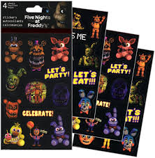 Amazon Com Five Nights At Freddy S Stickers 4 Sheets Of Stickers Toys Games