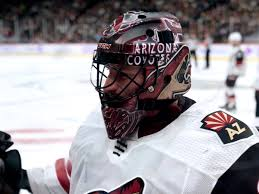"""Tendy Gear on Twitter: """"Adin Hill Arizona Coyotes CCM mask Painted by  @Friedesigns #MaskMonday… """""""