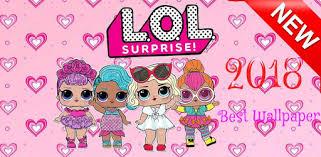 cute surprise lol dolls wallpaper