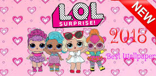 cute surprise lol dolls wallpaper
