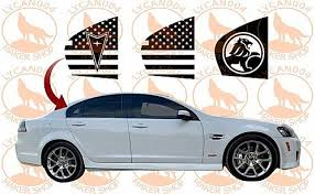 Pontiac G8 Rear Quarter Windows Flag Decals In 2020 Flag Decal Pontiac G8 Pontiac