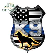 Earlfamily 13cm X 9 8cm Thin Blue Line Shield K9 Dog Flag Sticker Car Truck Vinyl Decal Bumper 3d Car Styling Car Stickers Aliexpress