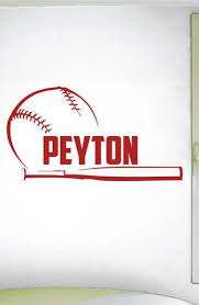 Custom Name Baseball Wall Decal 0279 Personalized Boys Baseball Wall Wall Decal Studios Com