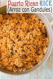 puerto rican rice arroz con gandules