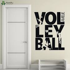 Yoyoyu Wall Decal Beach Volleyball Wall Sticker Kicking Silhouette Vinyl Decor For Teenager Room Sports Decorations Qq331 Wall Stickers Aliexpress