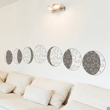 Phases Of The Moon Vinyl Wall Decal