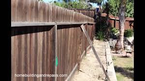 How I Fixed A Leaning Wood Fence Home Repair Slideshow Youtube