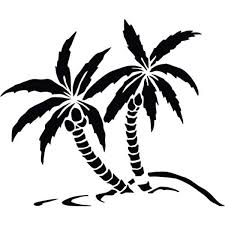 Amazon Com Ranger Products Palm Trees Ocean Beach Silhouette Car Decal Sticker White Color Decal Die Cut Decal Bumper Sticker For Windows Cars Trucks Laptops Etc Automotive