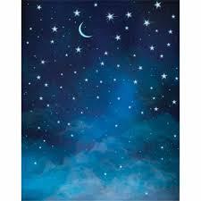هلال بريق نجوم الليل السماء الزرقاء الأطفال التصوير استوديو صور
