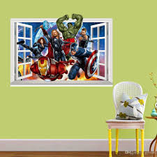 The Avengers 3d Wall Stickers Pvc 50 70cm Window Superhero Wall Decals For Living Room Kids Room Decoration Childrens Day Gift Bedroom Decal Bedroom Decals For Adults From Qiansuning666 15 4 Dhgate Com