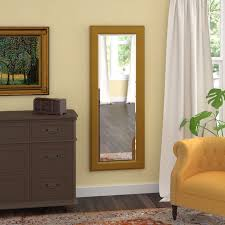 dalessio vintage gold floor wall mirror