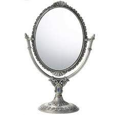 both side antique standing mirror hand