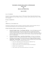 TOURISM AND RECREATION COMMISSION MINUTES OF REGULAR MEETING July 8, 2010