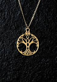 18k gold tree of life necklace tree of
