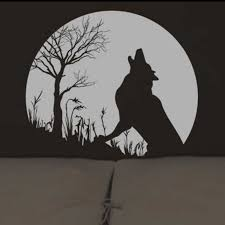 Wolf Howling Twilight Vinyl Wall Decal Sticker Decor Free Shipping Color White Black Brown P2031 Sticker Design For Motorcycle Stickers Wrapsticker Cheap Aliexpress