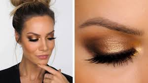 gold smokey makeup tutorial shonagh