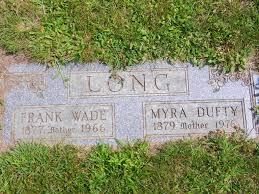 Myra Sarah Dufty Long (1879-1976) - Find A Grave Memorial