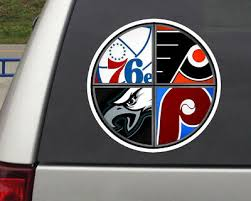 Philly Sports Combined Phillies Eagles Flyers 76er S Decal Stickers Pick Size Ebay