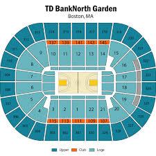 td garden seating chart boston bruins