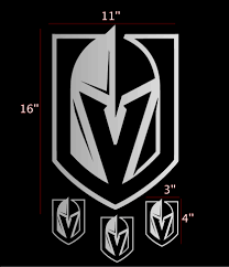 Oracal Golden Knights Las Vegas Logo Vinyl Sticker Car Laptop Room Window Decal Nhl