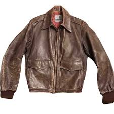 1950s leather jacket brown 50s style